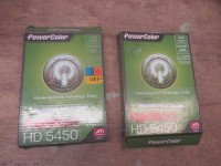 2 Peças - Placas de vídeo Power Color 5450 1GB