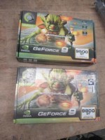 2 Peças - Placas de vídeo Point of View GF 9800 GT 1GB + GF 9500 GT 1GB